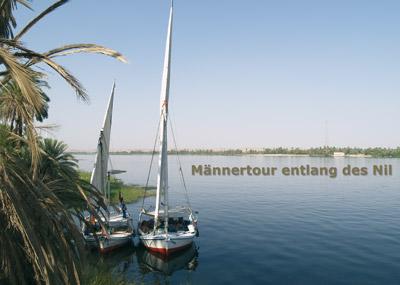 Männertour am Nil
